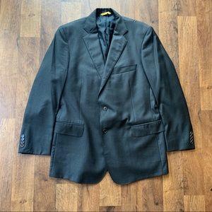 """Robert Talbott """"Carmel"""" Charcoal Wool Blazer - 44R"""